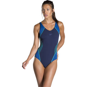 Speedo Fit Splice Muscleback Swimsuit Navy/Jade/Arabian Night