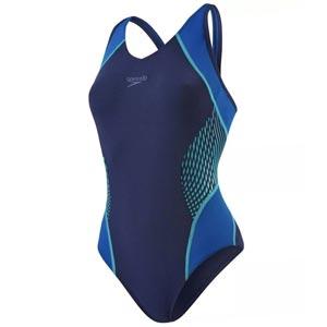 Speedo Fit Splice Muscleback Swimsuit Navy/Jade/Arabian Night