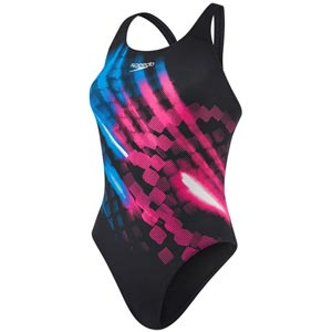 Speedo Ignitor Placement Powerback Black/Danube Blue/Electric Pink