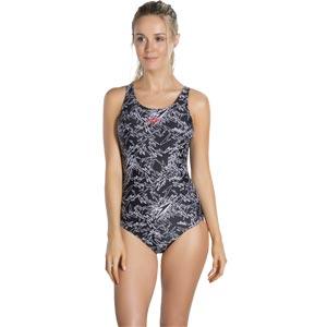 Speedo Boom Allover Muscleback Swimsuit Black/white