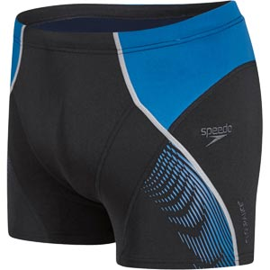 Speedo Fit Panel Aquashort Black/Danube Blue