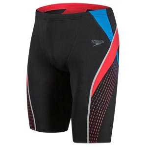 Speedo Fit Splice Jammer Black/Lava Red/Danube