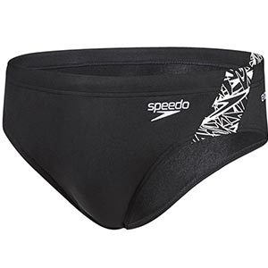 Speedo Boom Splice Brief Black/White