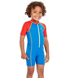 Speedo Boys Sea Squad Hot Tot Suit Blue/Red