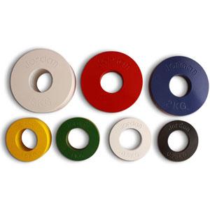 Jordan Fractional Olympic Plate Set