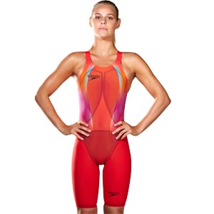 Speedo Fastskin LZR Racer Elite 2 Closedback Kneeskin Lava Red