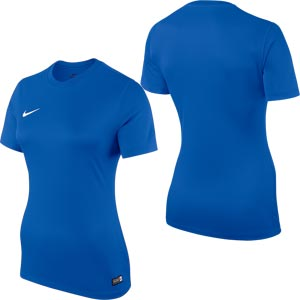 Nike Park VI Short Sleeve Womens Football Shirt Royal Blue