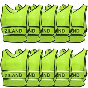 Ziland Hi Vis Reflective Bib 10 Pack