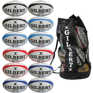 Gilbert G TR4000 Trainer Rugby Ball 12 Pack Assorted