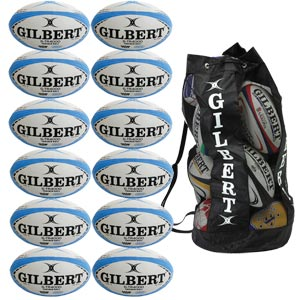 Gilbert G TR4000 Trainer Rugby Ball 12 Pack Blue