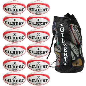 Gilbert G TR4000 Trainer Rugby Ball 12 Pack Red