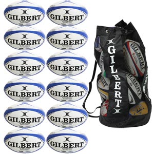 Gilbert G TR4000 Trainer Rugby Ball 12 Pack Navy