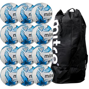 Mitre Impel Training Football 12 Pack White and Blue