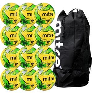 Mitre Impel Training Football 12 Pack Hi Vis