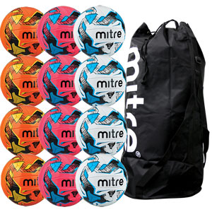 Mitre Malmo Plus Training Football 12 Pack Assorted