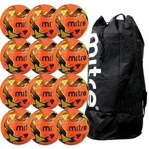 Mitre Malmo Plus Training Football 12 Pack Orange