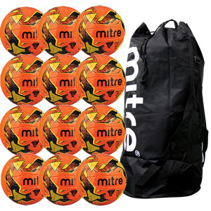 Mitre Malmo Plus Training Football 12 Pack Orange