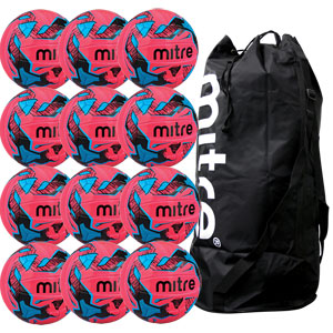 Mitre Malmo Plus Training Football 12 Pack Pink