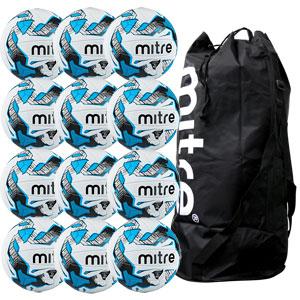 Mitre Malmo Plus Training Football 12 Pack White