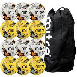 Mitre Ultimatch Hyperseam Match Football 12 Pack Assorted