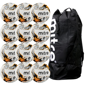 Mitre Ultimatch Hyperseam Match Football 12 Pack White