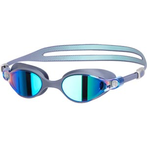 Speedo V-Class Virtue Mirror Female Swimming Goggles Grey/Blue