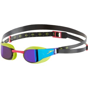 Speedo Fastskin Elite Mirror Swimming Goggles Lime Punch/Violet