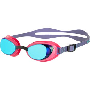 Speedo Aquapure Mirror Female Swimming Goggles Electric Pink/Blue