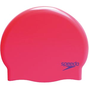 Speedo Junior Silicone Swimming Cap  Siren Red/Violet