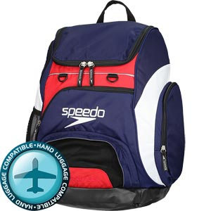 Speedo Teamster Backpack 35 Litre Navy/Red/White