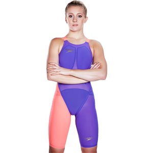 Speedo Fastskin LZR Elite 2 Closedback Kneeskin Violet/Siren Red