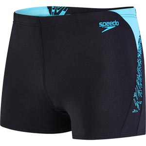 Speedo Boom Splice Aquashort Black/Turquoise