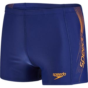 Speedo Sports Logo Aquashort Navy/Sunset Orange