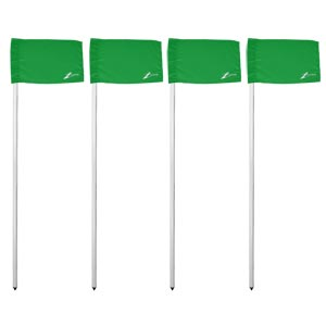 Ziland Club Corner Pole and Flag 4 Set Green