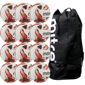 Mitre Tactic Training Football 12 Pack White