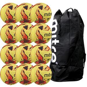 Mitre Tactic Training Football 12 Pack Hi Vis