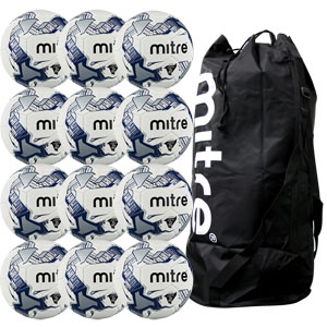 Mitre Primero Training Football 12 Pack White