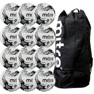 Mitre Calcio Hyperseam Training Football 12 Pack White