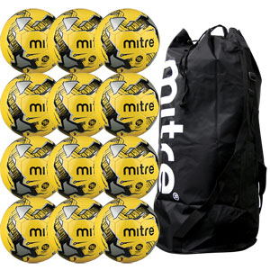 Mitre Calcio Hyperseam Training Football 12 Pack Hi Vis