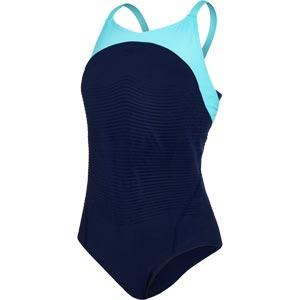 Speedo Fit Power Form X Back Swimsuit Navy/Spearmint