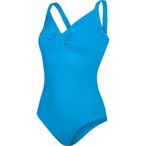 Speedo Sculpture Watergem Swimsuit Blue Bay