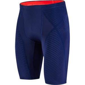Speedo Fit Power Form Jammer Navy/Lava Red