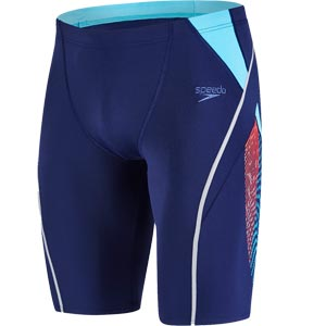 Speedo Fit Splice Jammer Navy/Turquoise/Lava Red