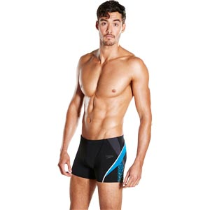 Speedo Fit Splice Aquashort Black/Oxid Grey/Danube
