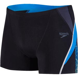 Speedo Fit Splice Aquashort Black/Oxid Grey/Danube
