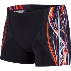 Speedo Placement Digital V Aquashort Black/Hot Orange/Vita Grey