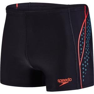 Speedo Placement Panel Aquashort Black/Turquoise/Lava Red