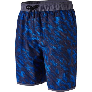 "Speedo Glide Printed 18"" Watershort Oxid Grey/Navy/Danube"