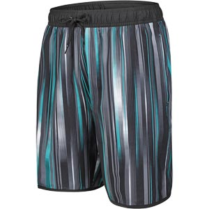 "Speedo Glide Printed 18"" Watershort Black/Oxide Grey/Jade"