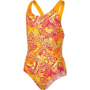 Speedo Fusion Fun Allover Splashback Swimsuit Jaffa/Pink